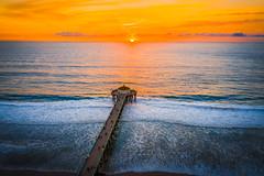 Malibu Beach Sea Cave Brilliant Sunset Leo Carillo State Beach Red Yellow Glow Blue Sky Fuji GFX100 Fine Art Landscape Ocean Art Seascape! Landscape Nature Photography! Master Medium Format Fine Art Photographer! Fujifilm GFX 100 & Fujifilm FUJINON Lens!