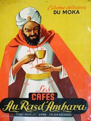 Plaque émaillée de réclame pour du café  (Collection Malongo)
