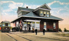 Trolley Station at Braddock Heights, Maryland, Postcard, Circa 1910