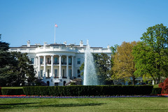 The White House south view from E. Street.