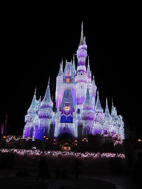 Photo:Cinderella's Castle At Night By Joe Shlabotnik