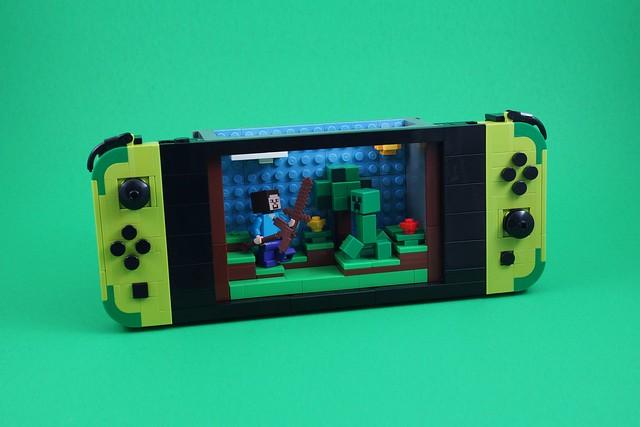 Photo:LEGO Nintendo Switch (Minecraft) By BrickinNick