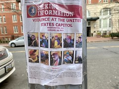 Wanted poster in DC