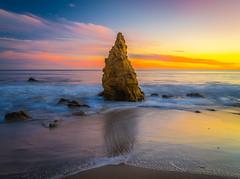 Malibu Beach El Matador State Beach Sunset Red Orange Yellow Pink Clouds Southern California Fuji GFX100 Fine Art Landscape Photography! Elliot McGucken Ocean Art Seascape Landscape Nature Photography! MF Fujifilm GFX 100 & Fujifilm FUJINON Lens!