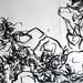 2010.01-2010.10[14] Shanghai Sanlintang Studio Pastel on paper Joint painting 上海三林塘工作室 纸上炭精条组画-43 (Quadruple  No.1Part 四联画.一局部)