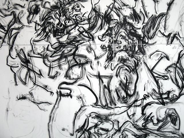2010.01-2010.10[14] Shanghai Sanlintang Studio Pastel on paper Joint painting 上海三林塘工作室 纸上炭精条组画-53 (Quadruple  No.4 Part 四联画.四局部)