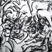 2010.01-2010.10[14] Shanghai Sanlintang Studio Pastel on paper Joint painting 上海三林塘工作室 纸上炭精条组画-50 (Quadruple  No.3 Part 四联画.三局部)
