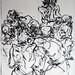 2010.01-2010.10[14] Shanghai Sanlintang Studio Pastel on paper Joint painting 上海三林塘工作室 纸上炭精条组画-44 (Quadruple  No.1 四联画.一)
