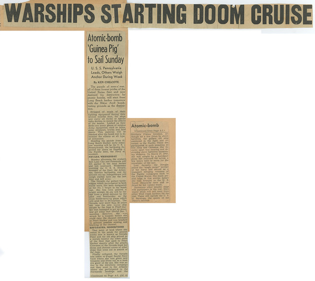 Photo:Warships Starting Doom Cruise - Atomic-bomb 'Guinea Pig' to Sail Sunday By rocbolt