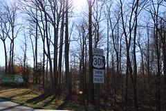 US 301 SB reassurance marker, La Plata, MD