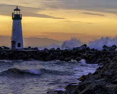 Sunrise Walton Lighthouse Santa Cruz California
