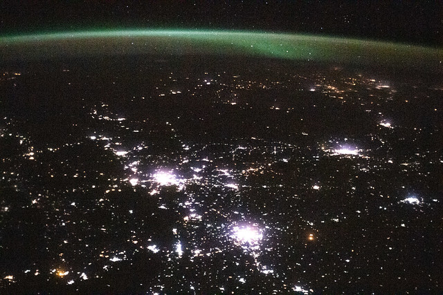 Photo:Aurora above Russia By NASA Johnson