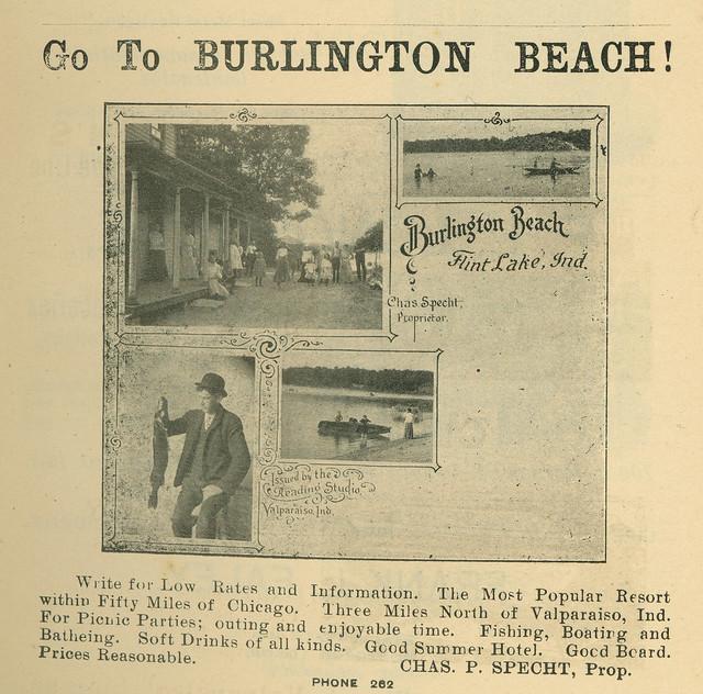 Photo:Go to Burlington Beach, 1905 - Valparaiso, Indiana By Shook Photos