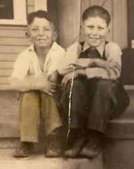 Jack Morgan and his uncle Gene Combs