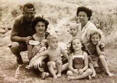 Jack, Gloria holding Jolinda, Monte, Irene, Sue Ann, Willie holding a baby