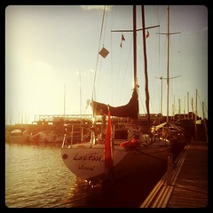Berthed before sunset - Photo of Englesqueville-en-Auge