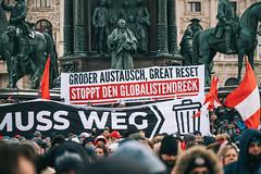Anti-Corona-Demo am 16.01.2021 in Wien