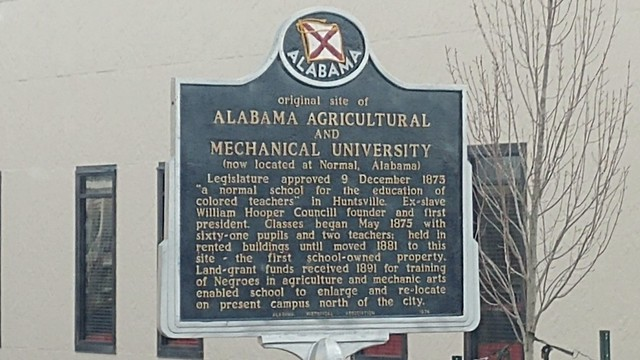 Photo:Original Site of Alabama A & M University Historic Marker By jimmywayne