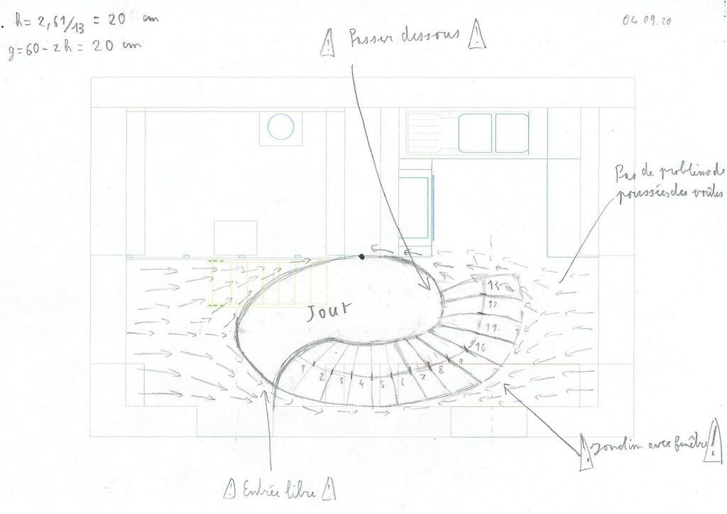 Proposition escalier voute sarrasine travers voute