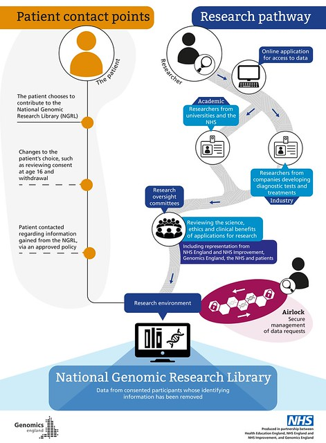 How data is accessed in the NGRL