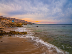 Malibu Point Dume seen from Leo Carillo State Beach Winter Sky Fuji GFX100 Fine Art Landscape Ocean Art Seascape! Elliot McGucken Landscape Nature Photography! Master Medium Format Fine Art Photographer! Fujifilm GFX 100 & Fujifilm FUJINON Lens!