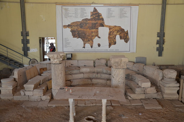 Photo:The Martyrs' Church dated to the 6th century AD, Archaeological Park of Madaba, Jordan By Following Hadrian