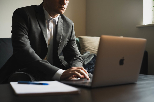 Photo:Working From Home in Formal Clothing / Wearing a Suit By Lakeland Furniture