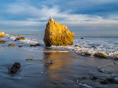 Malibu Sea Cave! Malibu Beach El Matador State Beach Sunset Red Orange Yellow Pink Clouds Southern California Fuji GFX100 Fine Art Landscape Photography! Elliot McGucken Ocean Art Seascape Landscape Nature Photography! Master Medium Format Fine Art!