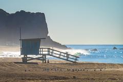 Malibu Zuma Beach Lifeguard Tower Point Dume Silhouette  Southern California Sony A7R4 Fine Art Landscape Photography! Elliot McGucken Ocean Art Seascape Landscape Nature Photography! Master Medium Format Fine Art Photographer!  Sony FE 200-600mm f/5.6-6.