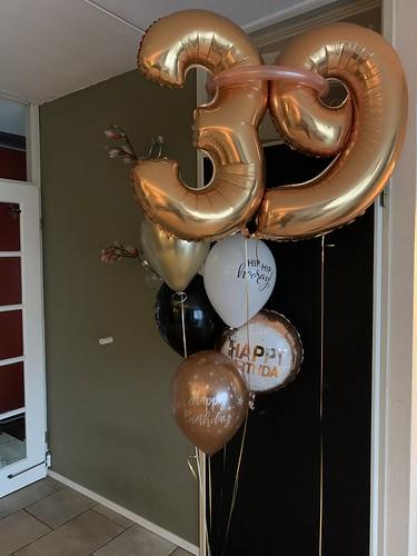 Ballonboeket Verjaardag 39 Jaar