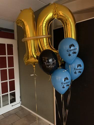 Ballonboeket Verjaardag 10 jaar Gamer
