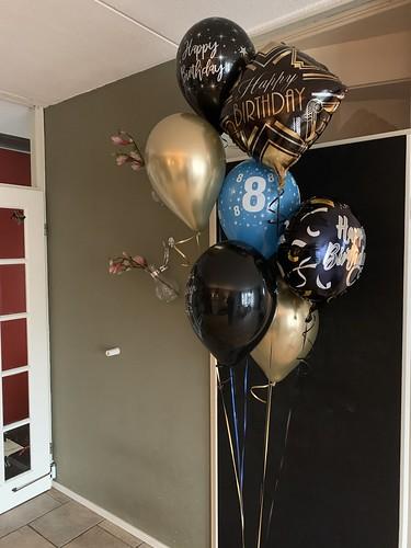 Ballonboeket Verjaardag 8 Jaar