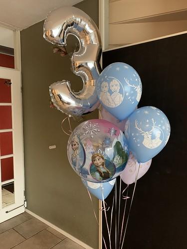 Ballonboeket Verjaardag 3 Jaar Disney Frozen