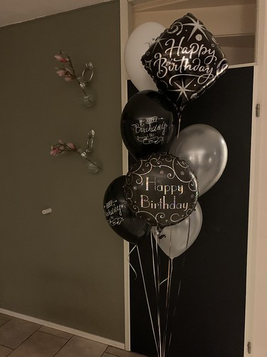 Ballonboeket Verjaardag Zilver Zwart