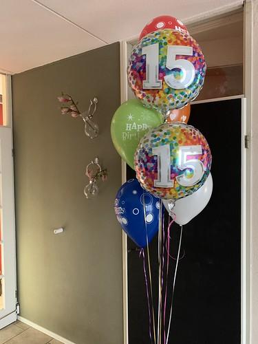 Ballonboeket Verjaardag 15 Jaar