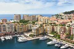 Blue waters of Monaco