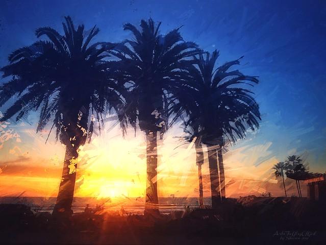 Photo:Hear Him and Follow Him - Del Mar Praying Sunset 2019 - Abstract Enlight - PS Paint Daubs - Art4TheGlryOfGod by Sharon rsz By Art4TheGlryOfGod by Sharon