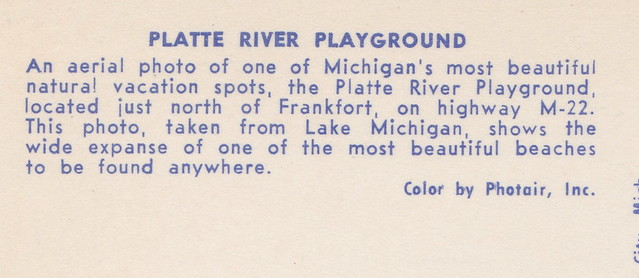 Photo:NW Benzie Honor Empire MI 1960s Platte River Mouth at Platte Bay BEACH BABES and Family FUN looking to Empire and Sleeping Bear Dunes befor the NPS Days- By UpNorth Memories - Don Harrison