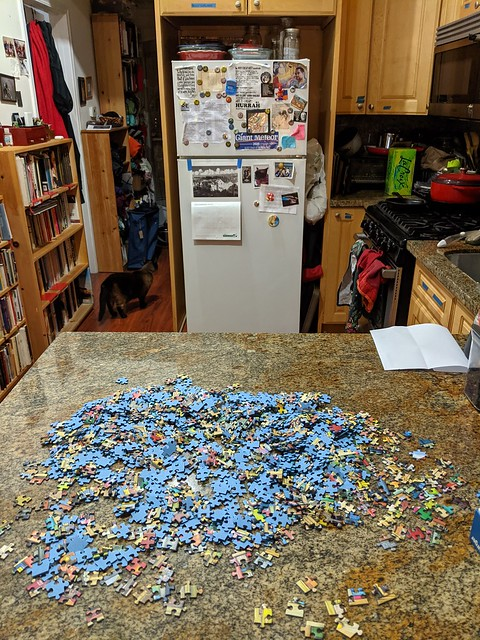 Photo:The puzzle begins By Liz Henry