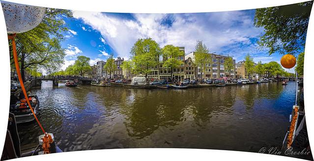 Photo:Prinsengracht ('Prince's Canal') looking towards the Jordaan neighborhood of Amsterdam By Vin Crosbie