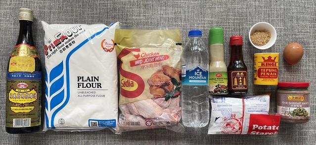 Ingredients for Prawn Paste Chicken (虾酱鸡)