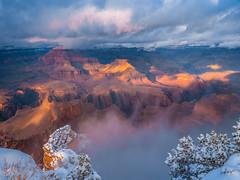 Grand Canyon National Park South Rim Winter Snow Fuji GFX100 Arizona Fine Art Landscape Photography! Elliot McGucken Fine Art American West Landscape Nature Photography! Master Medium Format Fine Art Photographer! Fujifilm GFX 100 & Fujifilm FUJINON Lens