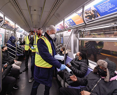 MTA and Elected Officials Join Mask Force