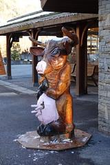Sculpture de vache @ Le Grand-Bornand