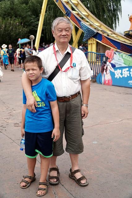 My half Chinese son with his grandpa, Beijing, China