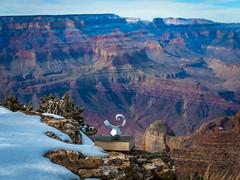 McGucken Sphere Spacetime Sculpture Light Cones dx4/dt=ic! Grand Canyon National Park South Rim Winter Snow Fuji GFX100 Arizona Fine Art Landscape Photography! Elliot McGucken Fine Art GCNP American West Landscape Fujifilm GFX 100 & Fujifilm FUJINON Lens!