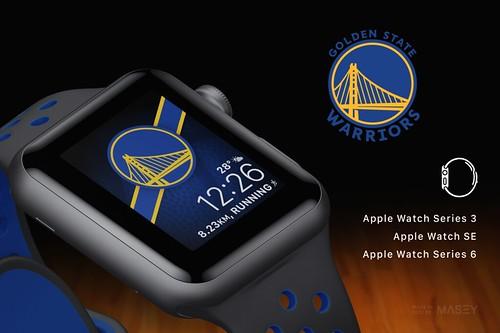 Golden State Warriors (NBA) Apple Watch face design