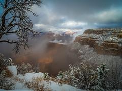The Abyss Grand Canyon National Park South Rim Winter Snow Fuji GFX100 Arizona Fine Art Landscape Photography! McGucken Fine Art GCNP American West Landscape Nature Photography! Master Medium Format Fine Art Photographer! Fujifilm GFX 100!