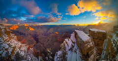 Mather Point Sunrise Grand Canyon National Park South Rim Winter Snow Fuji GFX100 Arizona Fine Art Landscape Photography! Elliot McGucken Fine Art GCNP American West Landscape Nature Photography! Master Medium Format Fine Art Photographer Fujifilm GFX 100