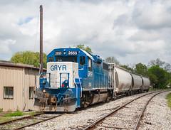 Grenada Railway GRYR 2655 (GP38-2) Batesville, Mississippi
